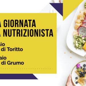 Doppia Giornata con la Nutrizionista presso la Farmacia di Toritto il 28 Gennaio e a Grumo il 26 Febbraio – Prenota Online
